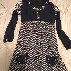 Dresses & Skirts - Navy and cream striped dress